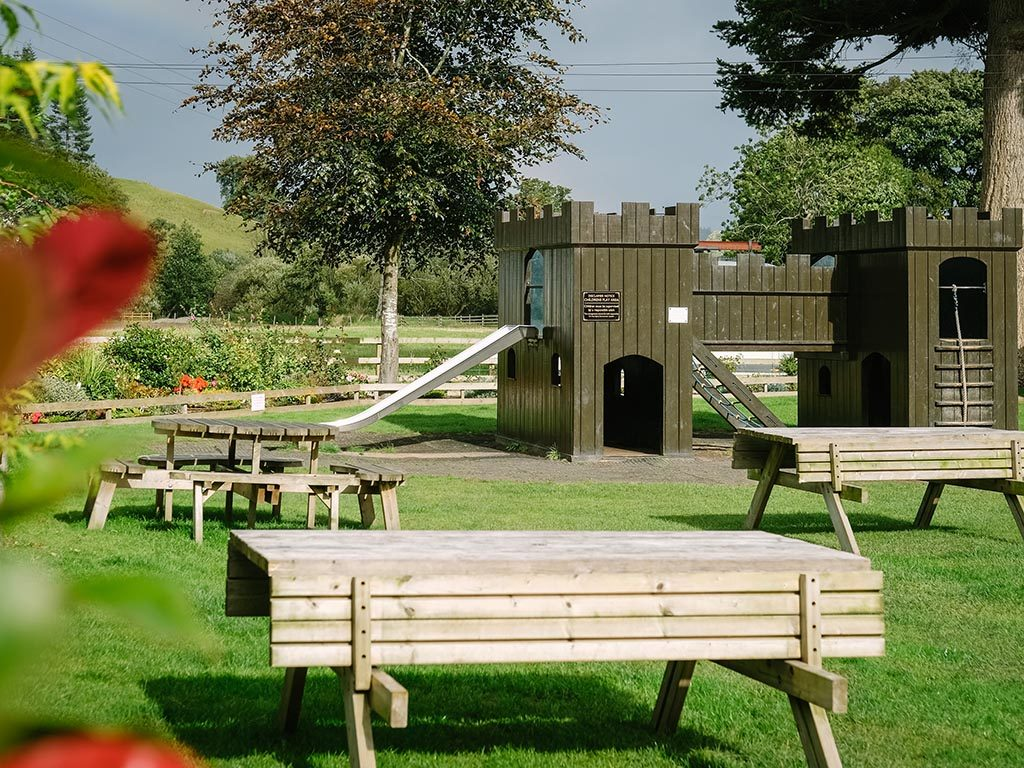 Sun Inn children's play area and beer garden