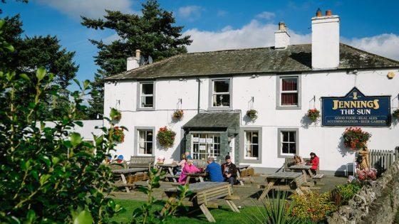 Sun Inn exterior & beer garden