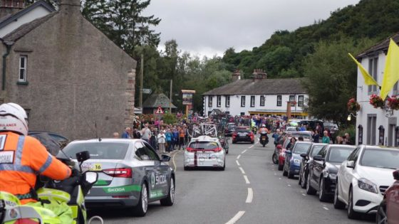 Tour of Britain through of Pooley Bridge