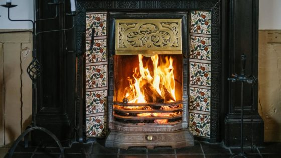 Cosy fire at the Sun Inn