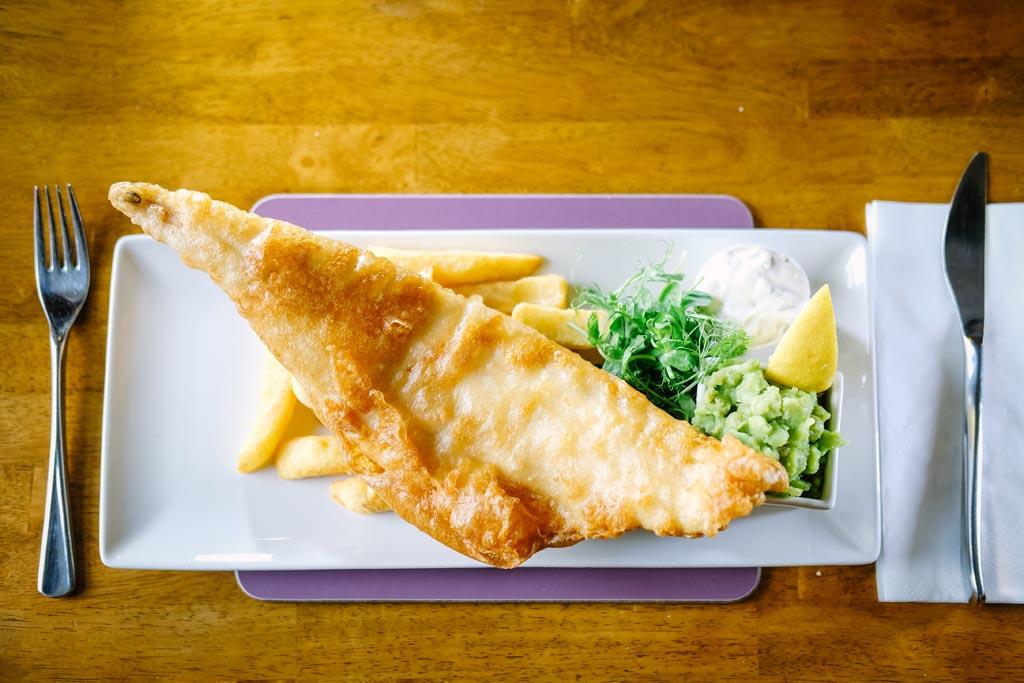 Fish & Chips at the Sun Inn Gastro Pub